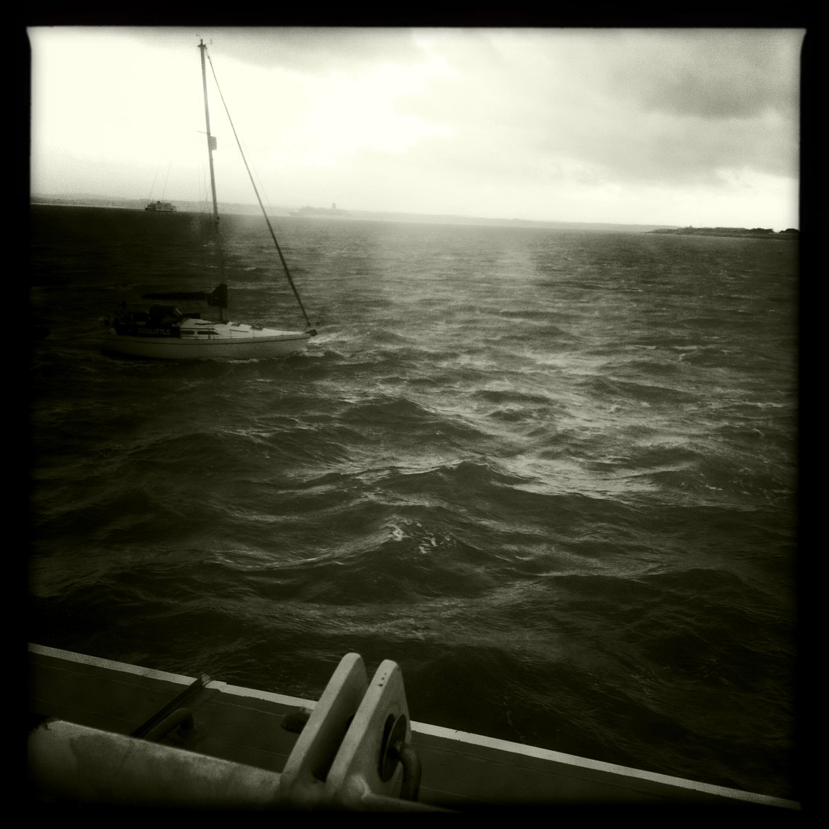 storm brewing in the solent